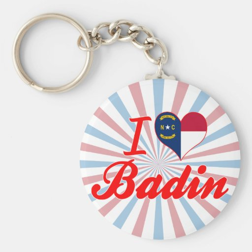 J'aime Badin, la Caroline du Nord Porte-clés