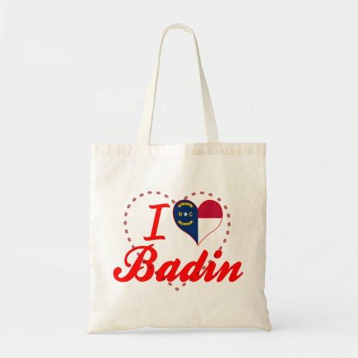 J'aime Badin, la Caroline du Nord Sac