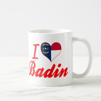 J'aime Badin, la Caroline du Nord Tasse