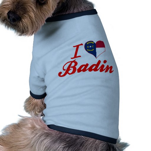 J'aime Badin, la Caroline du Nord T-shirt Pour Toutou