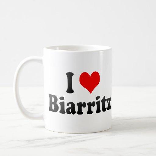 J'aime Biarritz, France Mugs