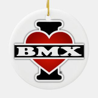 J'aime BMX Ornement Rond En Céramique