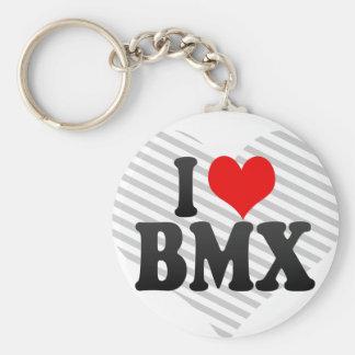 J'aime BMX Porte-clé Rond