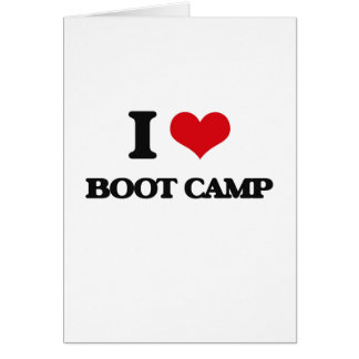 J'aime Boot Camp Carte De Vœux