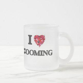 J'aime bourdonner mug en verre givré