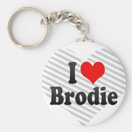 J'aime Brodie Porte-clefs