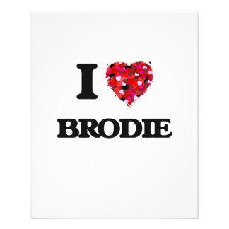 J'aime Brodie Prospectus 11,4 Cm X 14,2 Cm