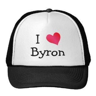 J'aime Byron Casquettes De Camionneur