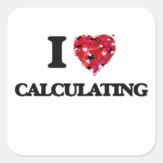J'aime calculer sticker carré