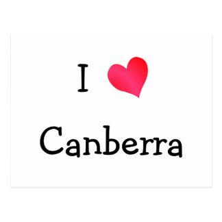 J'aime Canberra Carte Postale