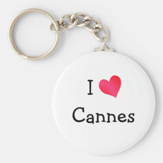 J'aime Cannes Porte-clé Rond