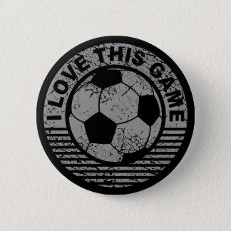 J'aime ce jeu - grunge du football/football badge