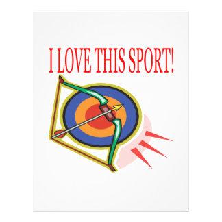 J'aime ce sport prospectus avec motif
