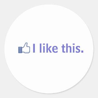 J'aime ceci sticker rond