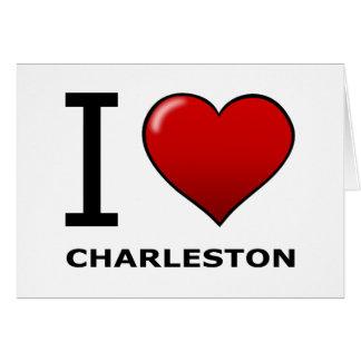 J'AIME CHARLESTON, SC - LA CAROLINE DU SUD CARTE DE VŒUX