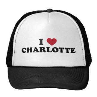 J'aime Charlotte la Caroline du Nord Casquettes