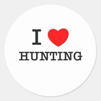 J'aime chasser sticker rond