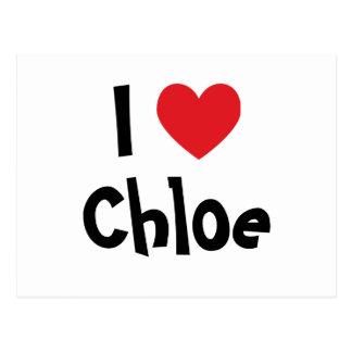 J'aime Chloe Cartes Postales