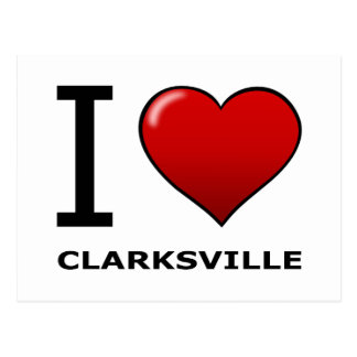 J'AIME CLARKSVILLE, TN - TENNESSEE CARTE POSTALE