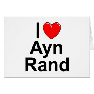 J'aime (coeur) Ayn Rand Carte De Vœux