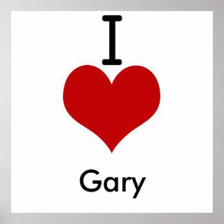 J'aime (coeur) Gary Posters
