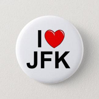 J'aime (coeur) JFK Badge