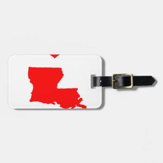 J'aime (coeur) la Louisiane Étiquette À Bagage
