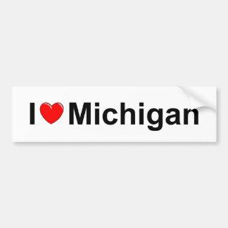 J'aime (coeur) le Michigan Autocollant De Voiture