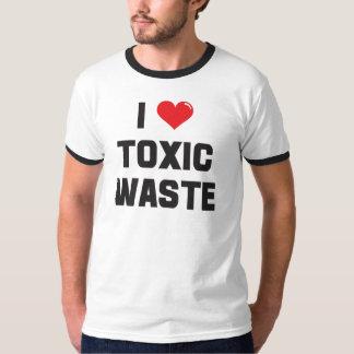 J'aime (coeur) les déchets toxiques t-shirt