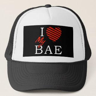 J'aime (coeur) mon Bae - casquette de camionneur