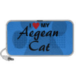 J'aime (coeur) mon chat égéen Pawprint Haut-parleur iPhone