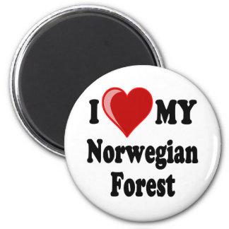 J'aime (coeur) mon chat norvégien de forêt aimant