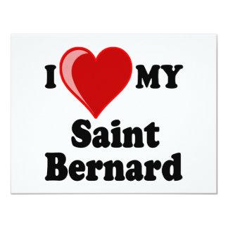 J'aime (coeur) mon chien de St Bernard Bristols Personnalisés