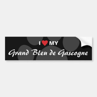 J'aime (coeur) mon Grand Bleu de Gascogne Autocollant De Voiture