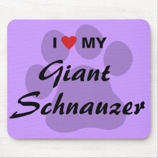 J'aime (coeur) mon Schnauzer géant Tapis De Souris