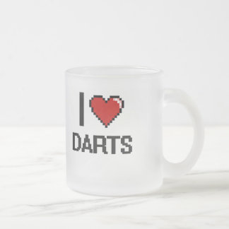J'aime conception de Digitals de dards la rétro Mug En Verre Givré