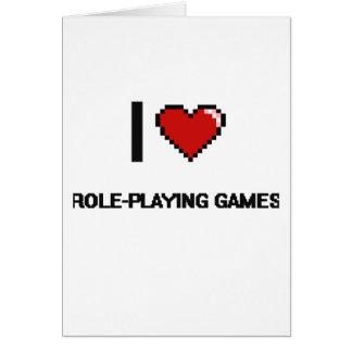 J'aime conception de Digitals de jeux de rôles la Carte De Vœux