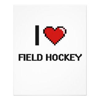 J'aime conception de Digitals d'hockey de champ la Prospectus 11,4 Cm X 14,2 Cm