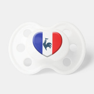 J'aime coq drapeau France Tétine