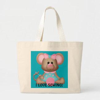 J'aime coudre le sac fourre-tout à souris