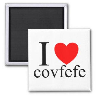 J'aime Covfefe Magnet Carré
