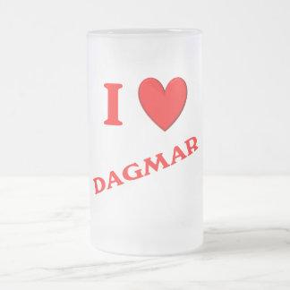 J'aime Dagmar Mug En Verre Givré