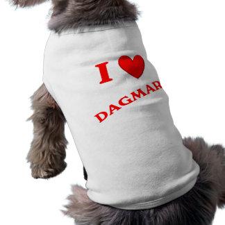 J'aime Dagmar T-shirt Pour Chien
