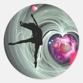 J'aime danser ! sticker rond