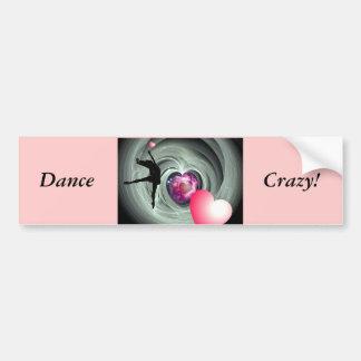J'aime danser ! autocollant de voiture