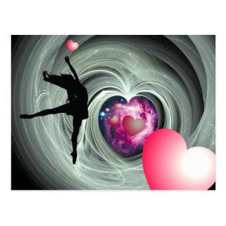 J'aime danser ! carte postale