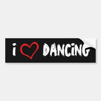 J'aime danser l'adhésif pour pare-chocs autocollant pour voiture