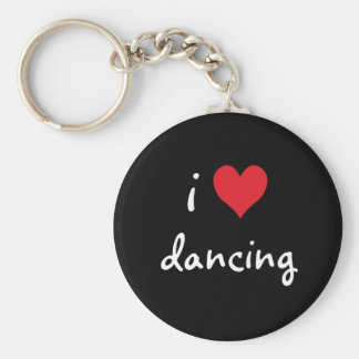 J'aime danser porte-clé rond