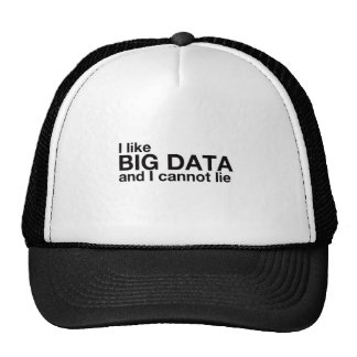 J'aime de grandes données casquettes