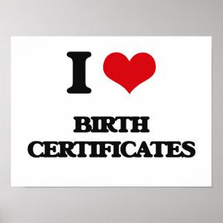 J'aime des actes de naissance